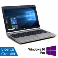 Laptop Hp EliteBook 8560p, Intel Core i7-2620M 2.70GHz, 4GB DDR3, 120GB SSD, DVD-RW, 15.6 Inch, Webcam, Tastatura Numerica + Windows 10 Pro