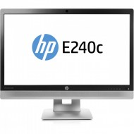 Monitor HP EliteDisplay E240C LED IPS Full HD, 24 Inch, VGA, HDMI, USB, Webcam, Grad B